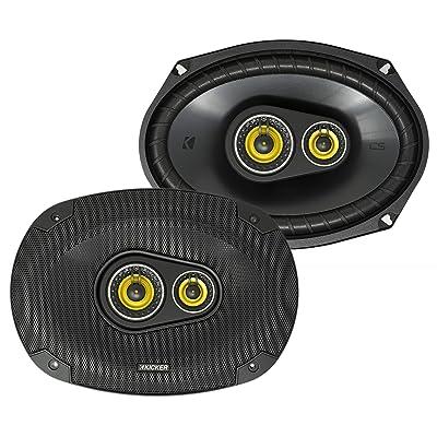 Kicker CS Series 150 Watt 6 x 9 Inch Car Audio Coaxial Speaker Pair, Yellow: Automotive