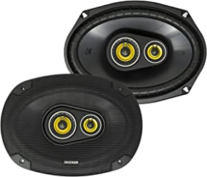 Kicker CS Series 150 Watt 6 x 9 Inch Car Audio Coaxial Speaker Pair, Yellow