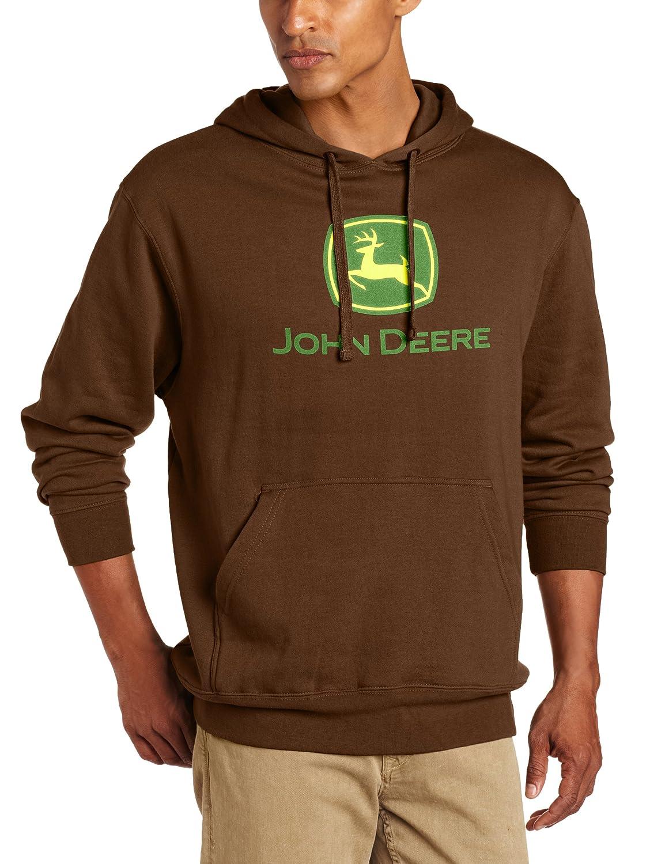 John Deere Mens Trademark Logo Core Hood Pullover Fleece John Deere Men's Apparel 1302-0000