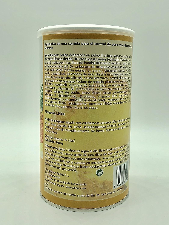 Sotya Batido Saciante Yogur y Piña - 700 gr: Amazon.es: Salud y cuidado personal