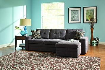 coaster home furnishings casual sectional sofa dark grey