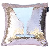Livedeal Reversible Sequins Mermaid Pillow Cases 40*40cm Bronze and White