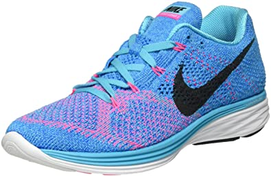 competitive price c2a06 54f79 NIKE Women s Flyknit Lunar3 Training Shoes Blue Size  8