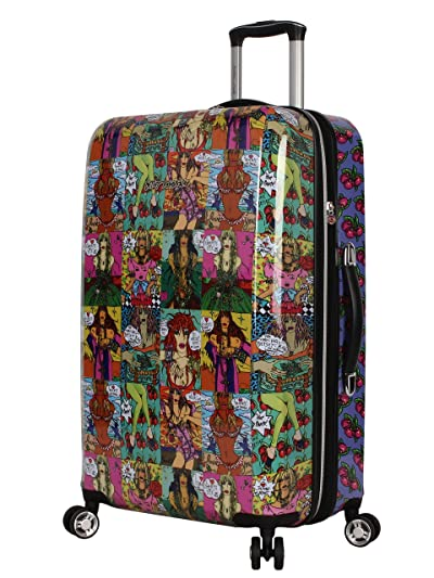 Betsey Johnson 26 Inch Checked Luggage Collection