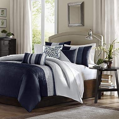 Madison Park Amherst Comforter Set Queen Navy