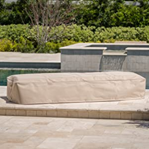 Solana Outdoor Beige Waterproof Fabric Lounge Set Cover (Set of 2)