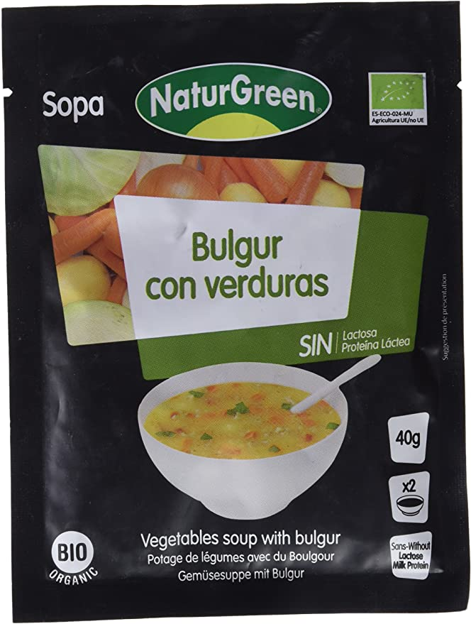 NaturGreen Sopa de Bulgur con Verduras Bio 40g: Amazon.es ...