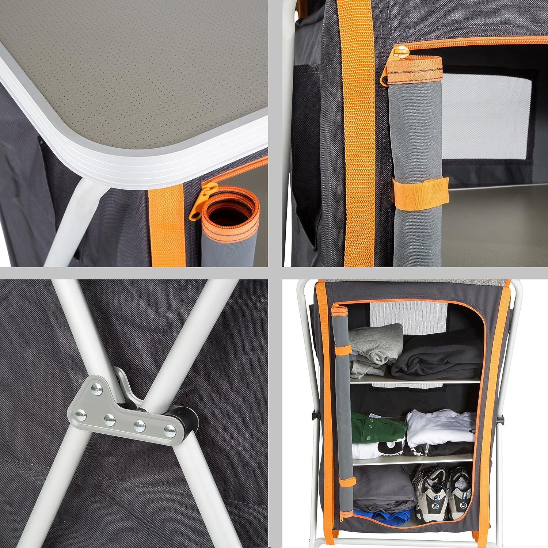 Ultrasport Campingschrank, Universal Camping Faltschrank, 3 Fächer ...