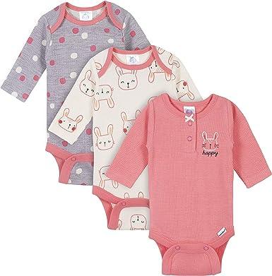 QYE Newborn Bodysuits Baby Girl and Boy Long Sleeve Onesies 3-6 Months Baby Girls Boys Clothes Gift