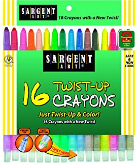 Sargent Art 55-0980 8-Count Twist-Up Color-Crayons Notions In Network