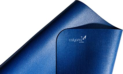 Amazon Com Airex Calyana Prime Yoga Mat Ocean Blue Sports Outdoors