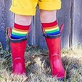 Tall Rainbow Socks with grips for