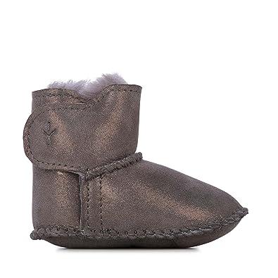 06b7636c87 EMU Australia Babies Baby Bootie Metallic Winter Real Sheepskin Boots Size  6M