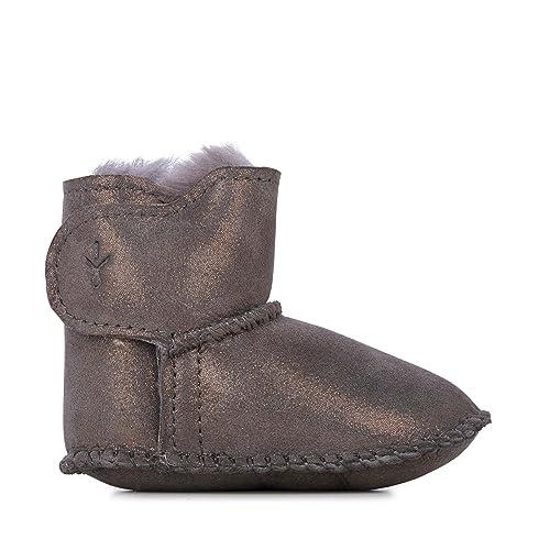 c1c9e75ec7a45 EMU Australia Babies Baby Bootie Metallic Winter Real Sheepskin Boots Size  6M