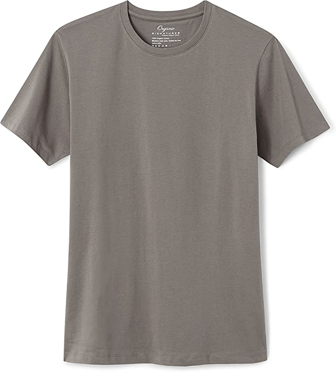 Organic Signatures Men's Short-Sleeve Crewneck 100% Organic Cotton T-Shirt