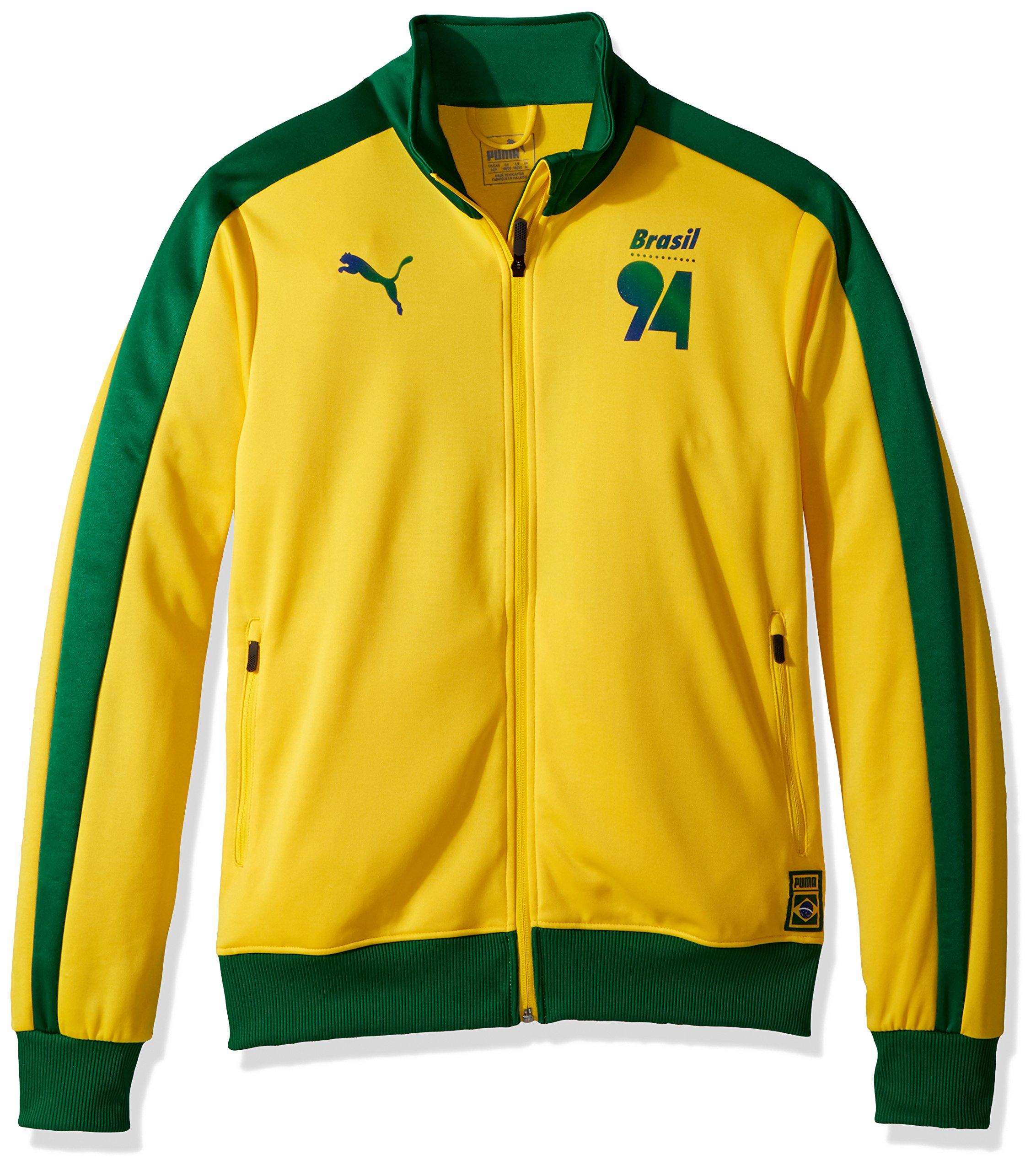 PUMA Men's Forever Football T7 Track Jacket, Dandelion Brazil, M
