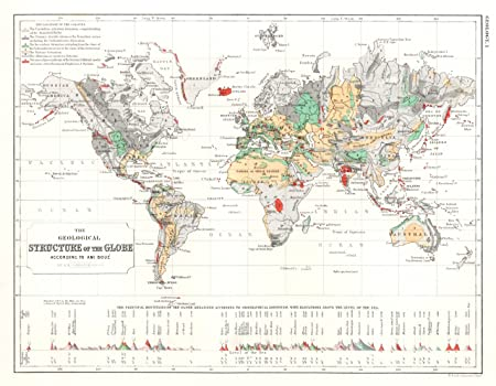 Ami boue geological world map poster amazon kitchen home ami boue geological world map poster gumiabroncs Images