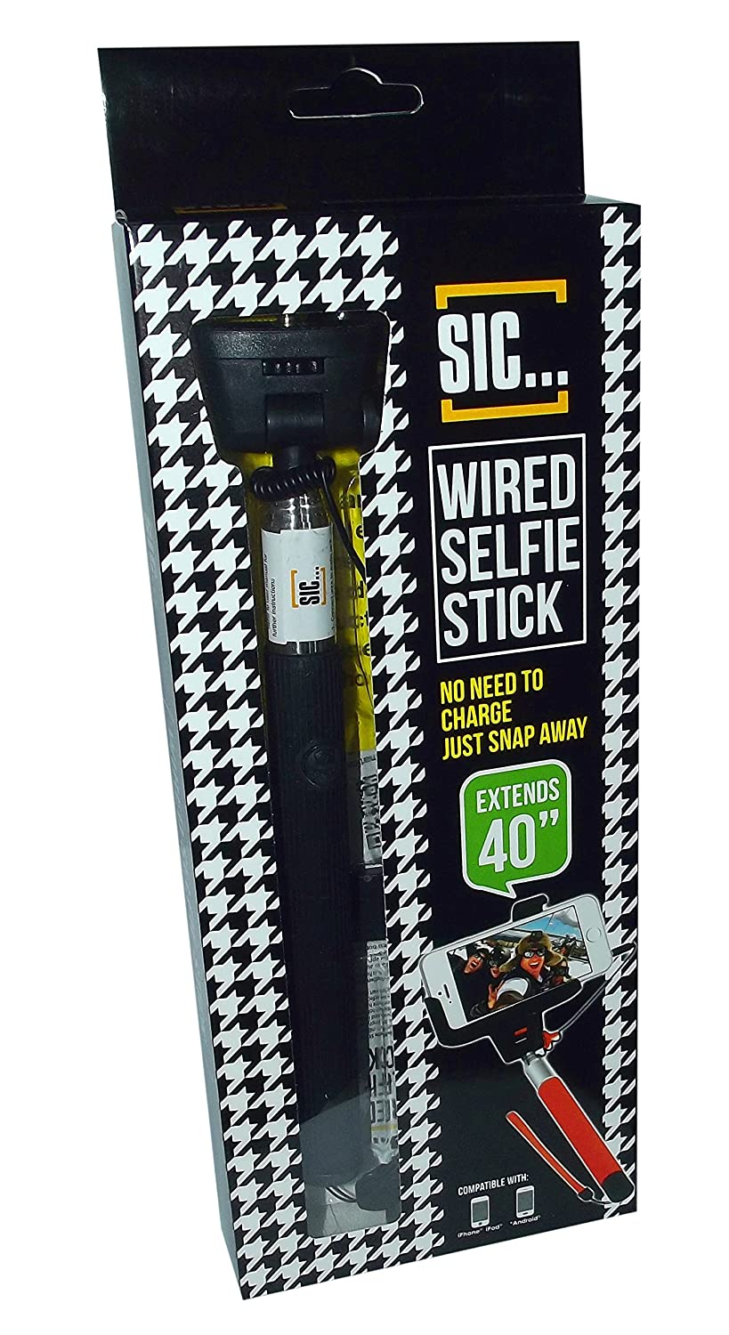 Amazon.com: SIC Wired Selfie Stick - Extends 40\
