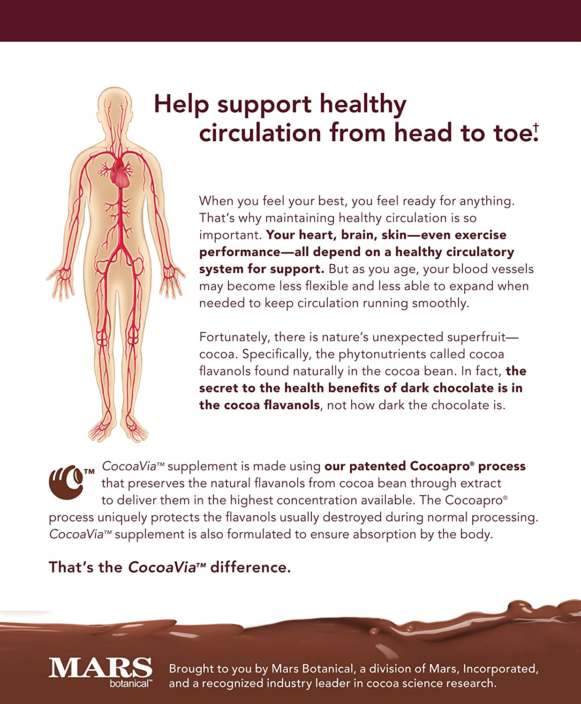 Amazon.com: CocoaVia Dietary Supplement, Unsweetened, Dark ...