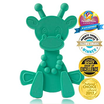 81513103372 Baby Teething Toy Extraordinaire - Little Bambam Giraffe Teether Toys by  Bambeado. Our BPA Free...