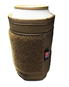 The American Made Military Tactical Coyote Brown Beer can/Beverage Cooler (Stay Frosty) By Empire Tactical USA