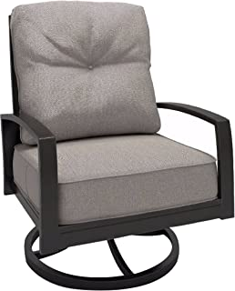 Ashley Furniture Signature Design   Castle Island Outdoor Swivel Lounge Chair  With Cushion   Rust