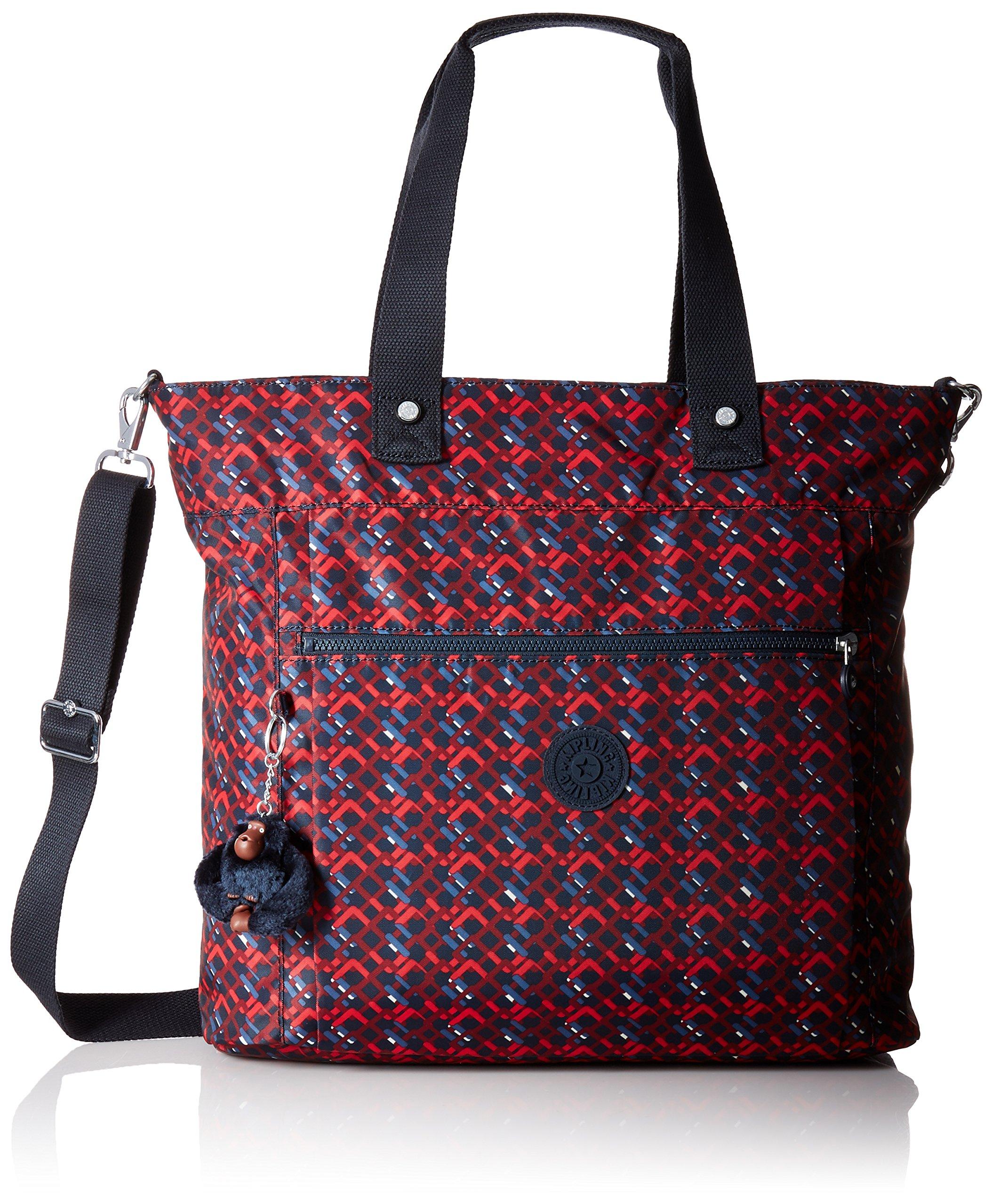 Lizzie Printed Laptop Tote Shoulder Bag, Groovy Lines, One Size by Kipling