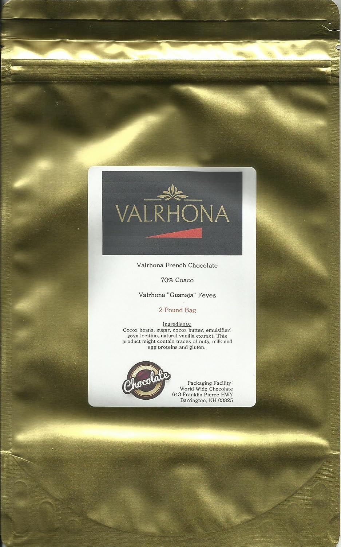 Amazon.com : Valrhona Chocolate Guanaja 70% Feves - 2 lb : Grocery ...