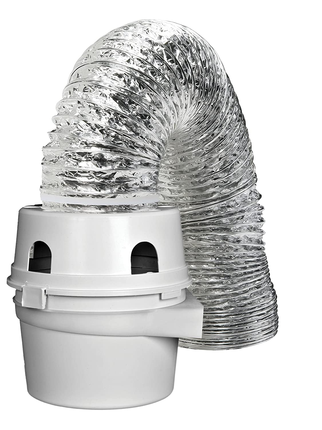 Dundas Jafine TDIDVKZW Indoor Dryer Vent Kit with 4-Inch by 5-Foot Proflex Duct, 4 Inch White