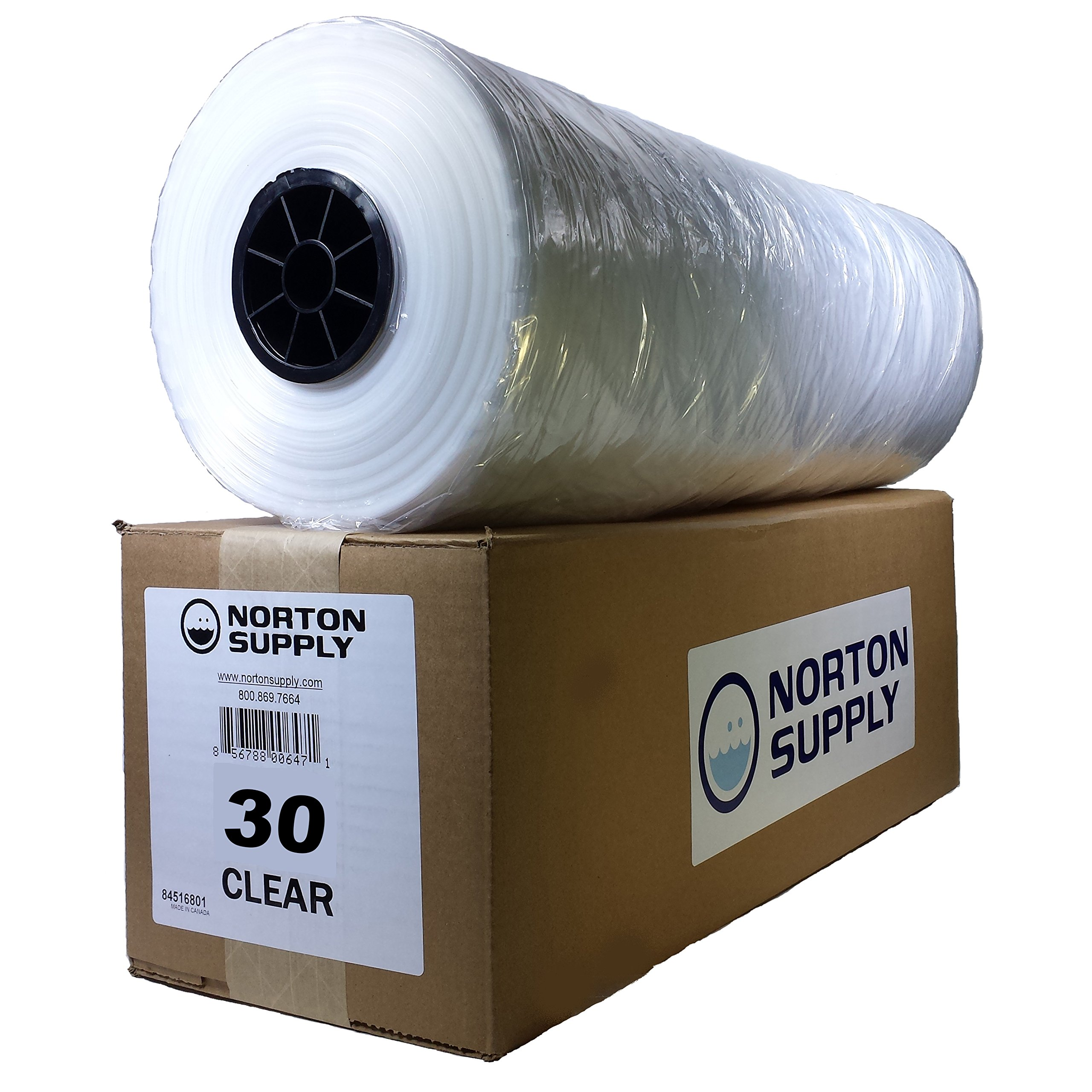Norton Supply Dry Cleaning Poly Bags - 30'', 100 Gauge