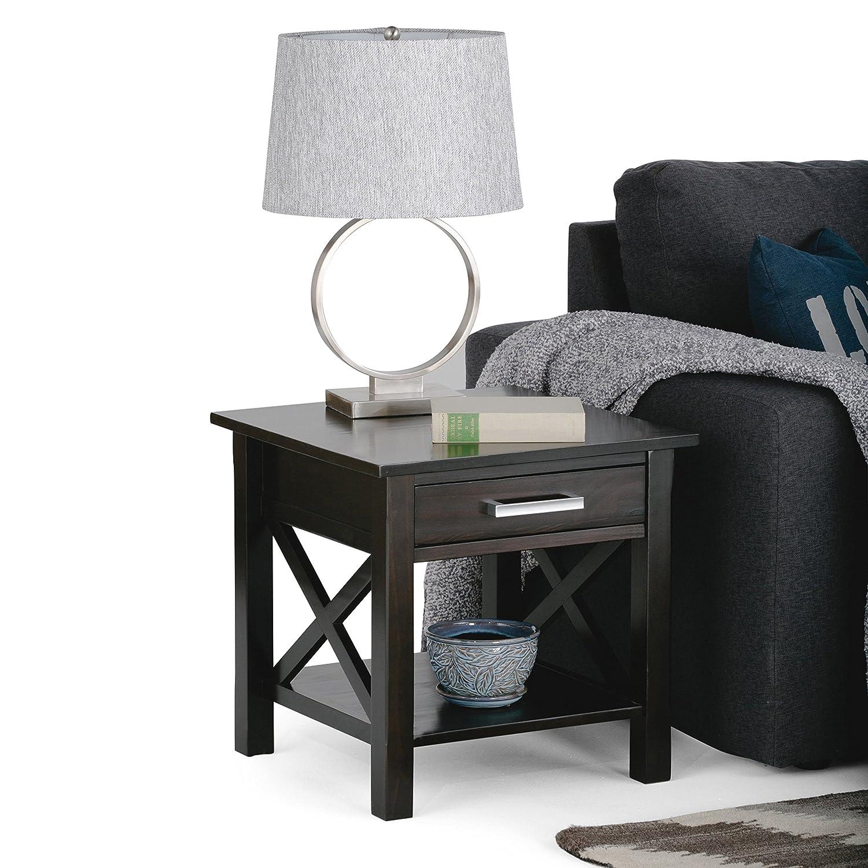 United Furniture Warehouse Kitchener Amazoncom Simpli Home Kitchener End Table Dark Walnut Brown