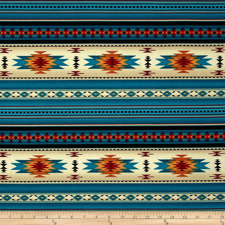 Elizabeth Studios Tucson Stone Turquoise Fabric by The Yard 0322817