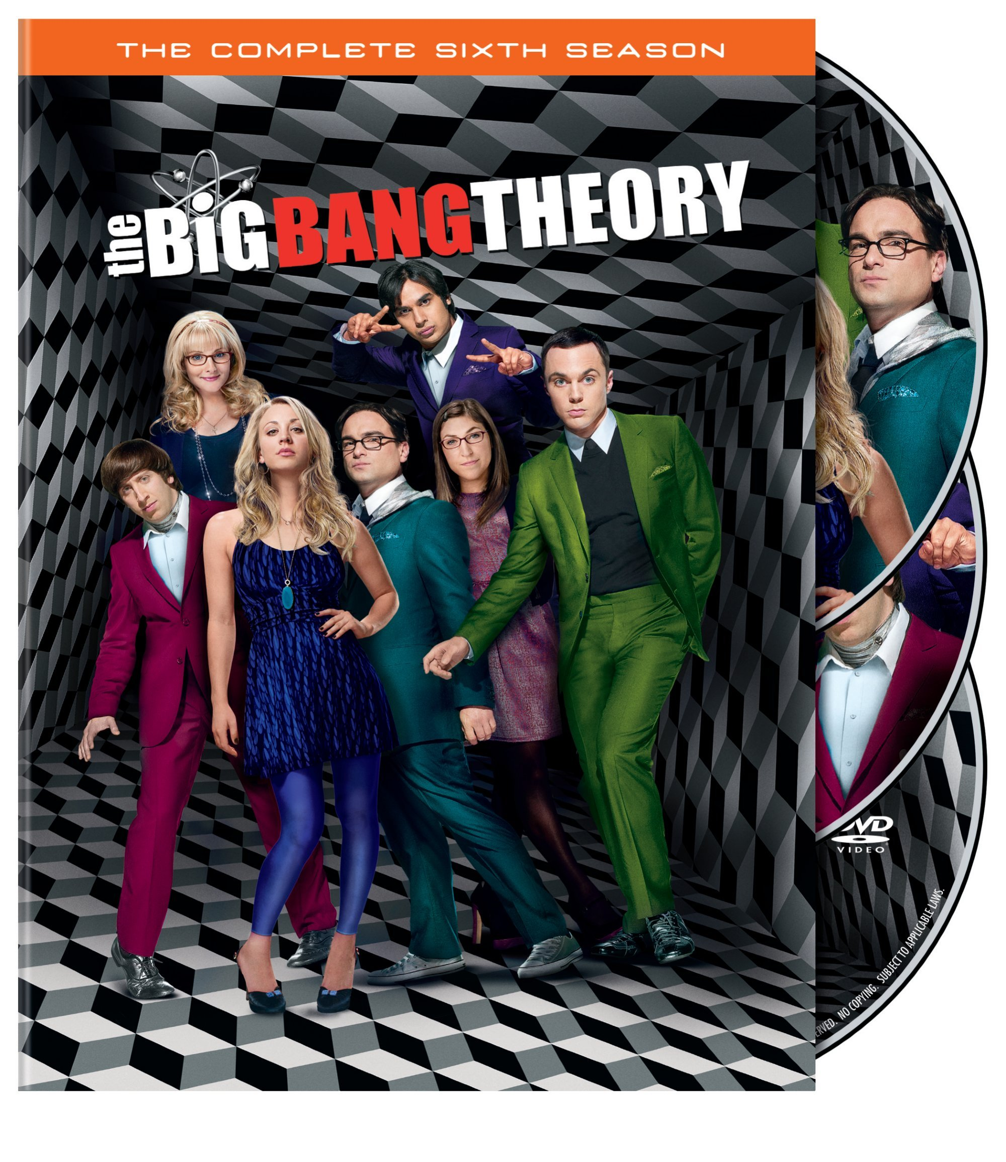 DVD : The Big Bang Theory: The Complete Sixth Season (, Dolby, AC-3, 3 Pack, 3 Disc)
