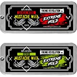 Mustache Wax 2 Pack - Extreme Hold Beard & Moustache Wax for Men - Strong Hold Helps Train Tame & Style - Citrus…
