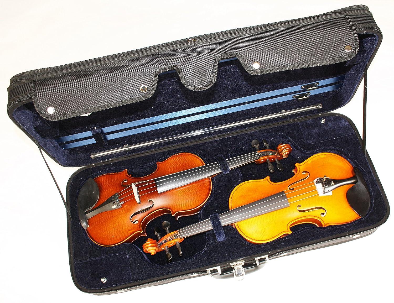 4/4 Geigenkoffer Geigenetui Geigenkasten für 2 Geigen MPM Handels GmbH