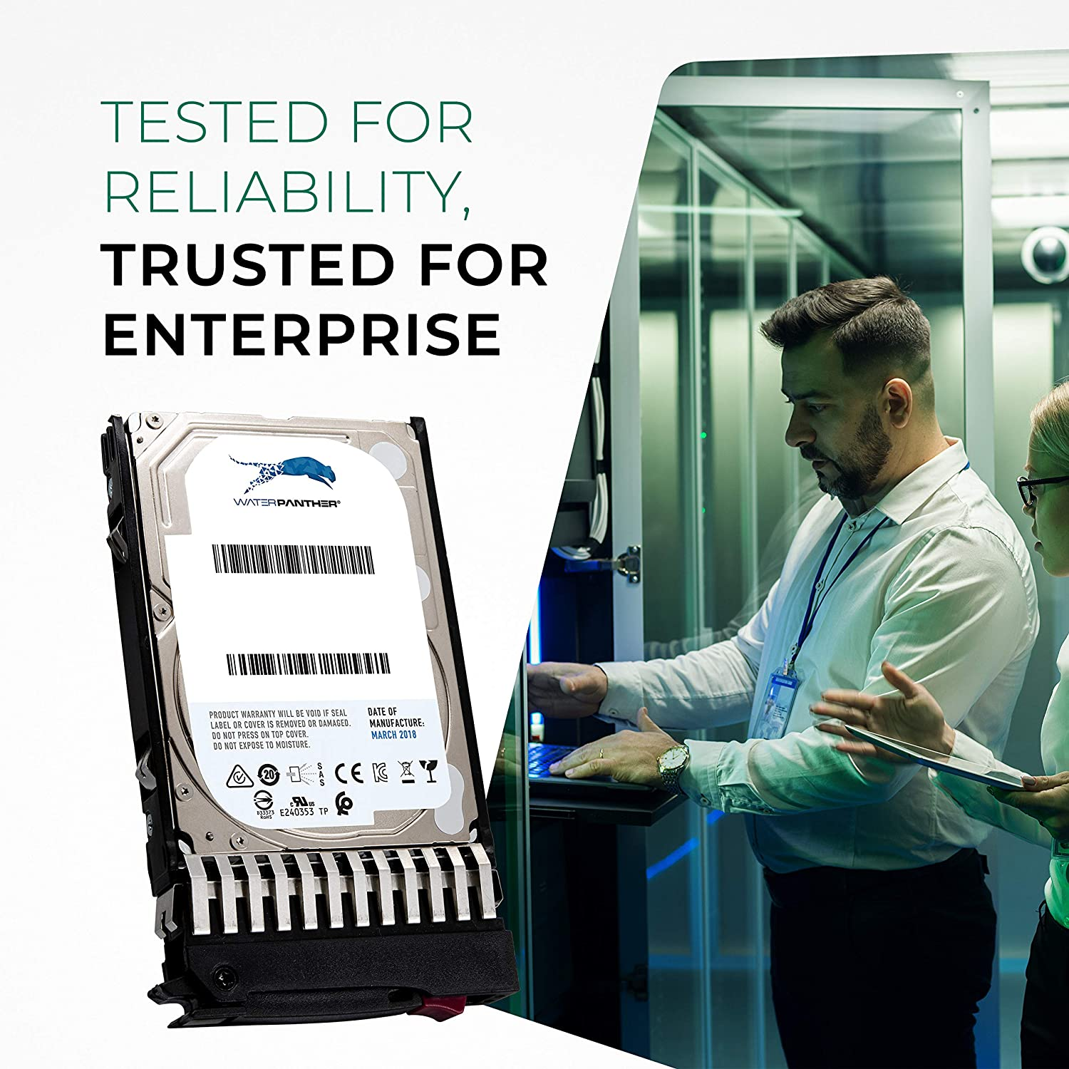 Enterprise Data Center Hard Drive in HPE G7 Tray Compatible with 768788-004 785079-B21 785079-S21 785415-001 EG1200JEHMC 1.2 TB 10K RPM 512n SAS 12Gb//s 2.5-Inch HDD for HP Proliant Servers