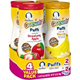 Gerber Graduates Puffs, Banana and Strawberry Apple, 4 Count