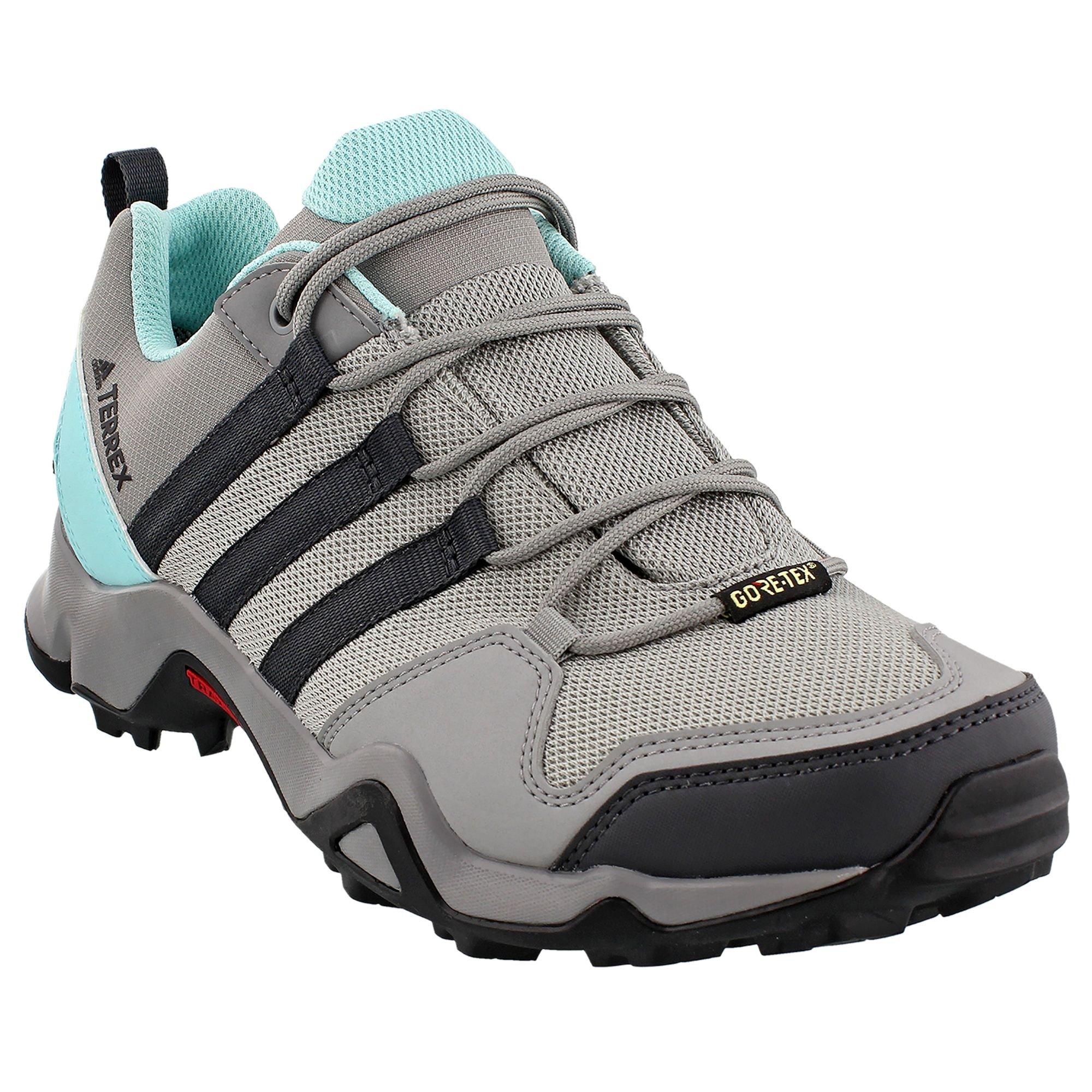 adidas outdoor Women's Terrex AX2R GTX Charcoal Solid Grey/Dgh Solid Grey/Clera Aqua 8.5 B US