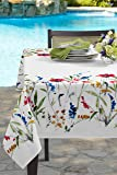 "Benson Mills Garden Party Indoor/Outdoor Spillproof Tablecloth (52"" X 70"" Rectangular, Wild Flower)"