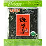 Organic Daechun(Choi's1) Roasted Seaweed, GIM (50 Full Sheets), Resealable, Gold Grade, Product of Korea