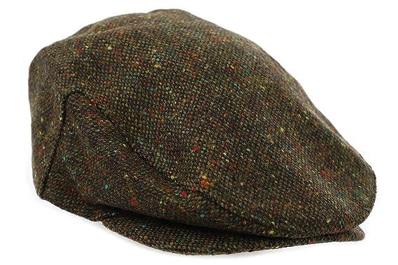 4fae76bfa8284 Biddy Murphy Tweed Cap Green Fleck John Hanly Made in Ireland at ...
