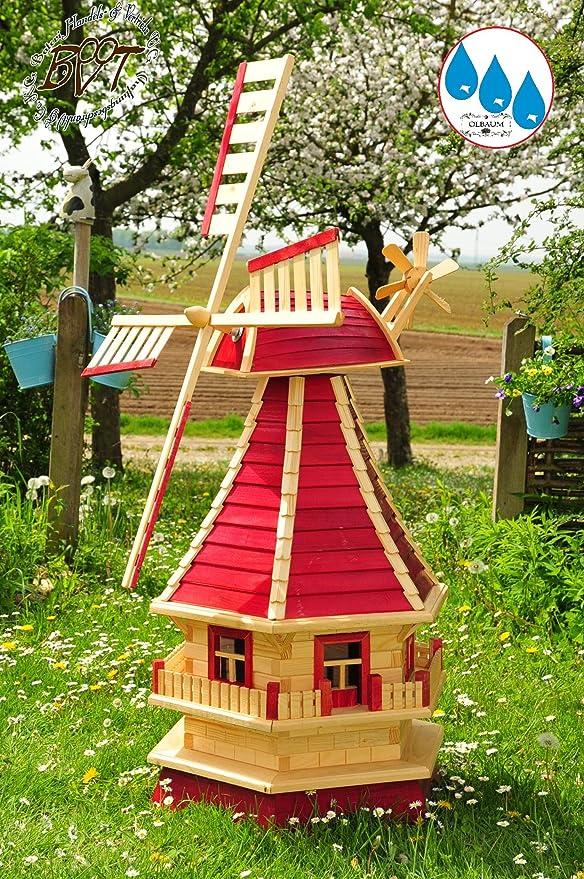 XL de molinillos XXL molino de viento de madera, diseño de jardín Molino de viento 130