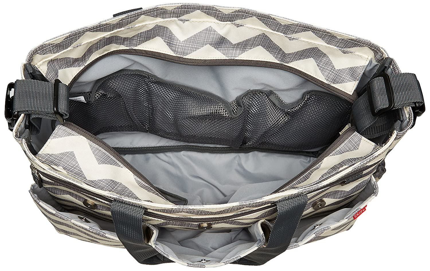 Skip Hop Duo Double Signature Changing Bag Heather Grey