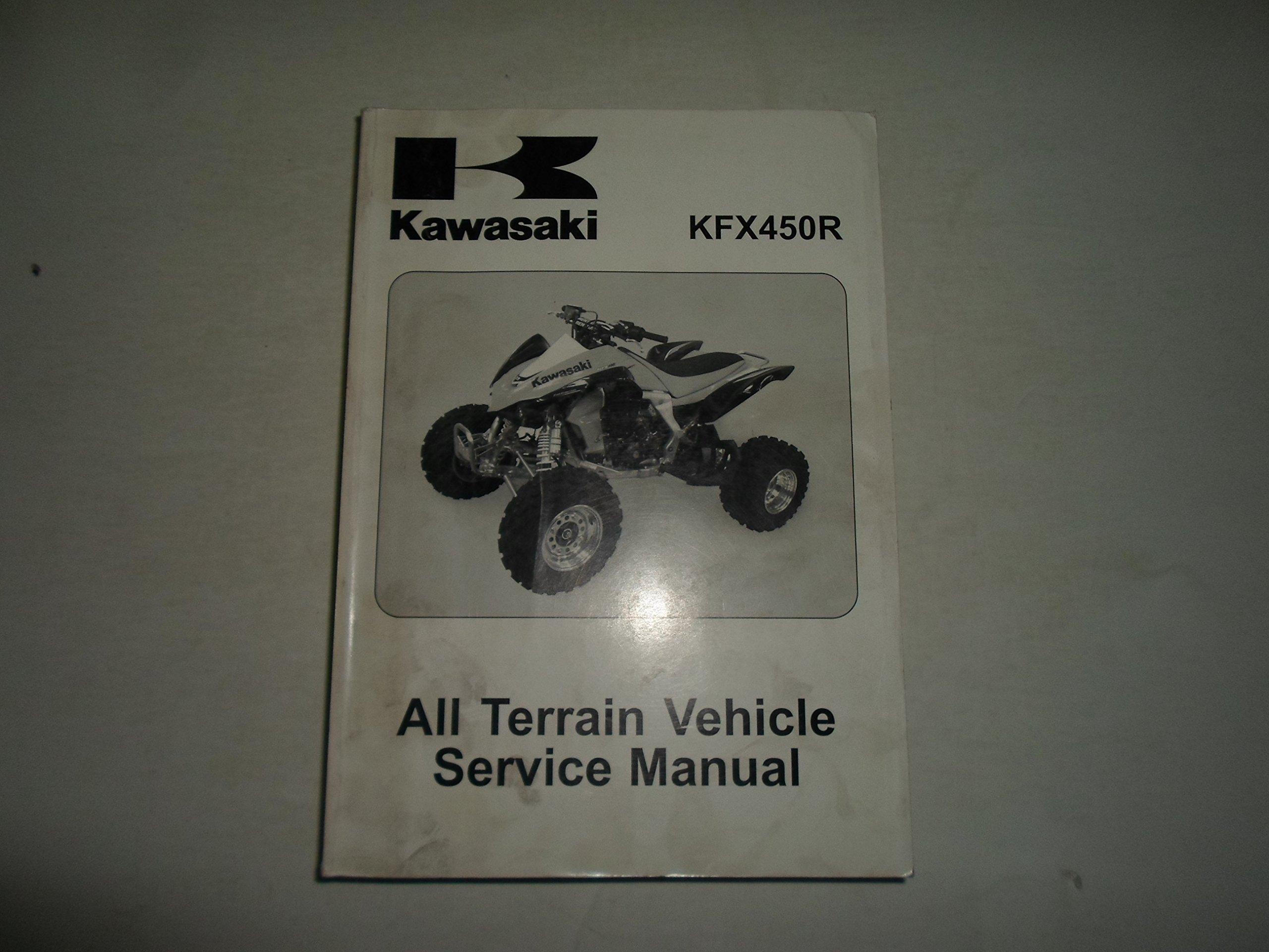 2008 Kawasaki KFX450R All Terrain Vehicle Service Repair Shop Manual  STAINED: KAWASAKI: Amazon.com: Books