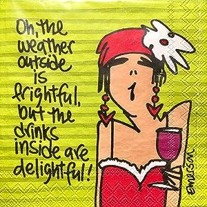 Design Design | Drinks are so Delightful | Cocktail Beverage Napkins | 20 ct