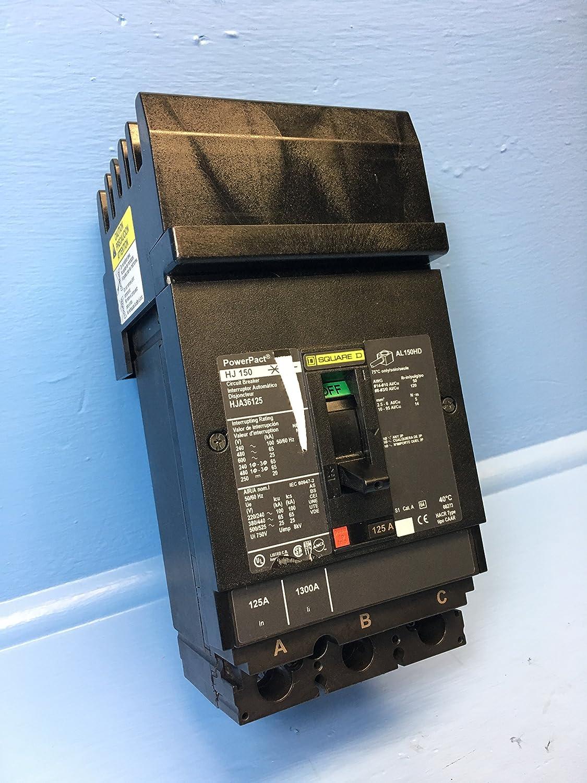 Schneider Electric hja36125 Molded Case回路遮断器600-volt 125-amp電気ボックス B009OYE7JS