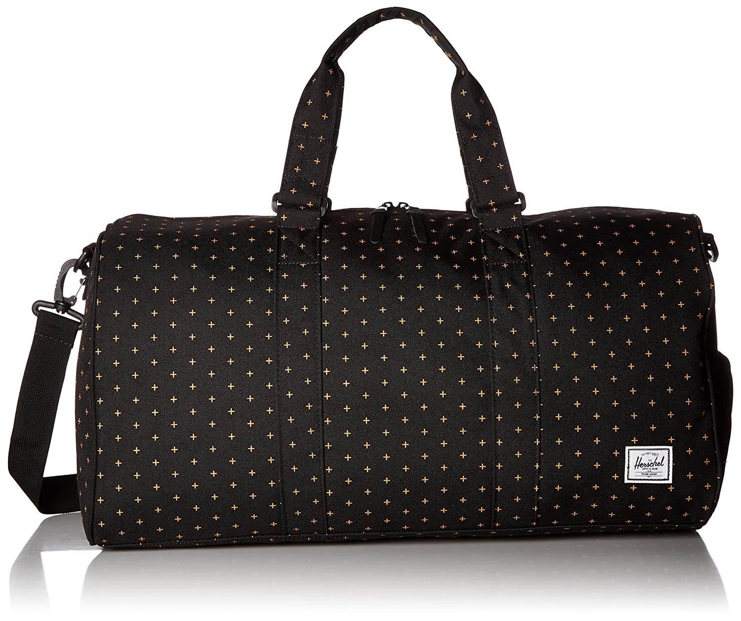 2ecafa667839 Herschel Novel Mid-Volume Duffel Bag, Black Gridlock Gold, One Size