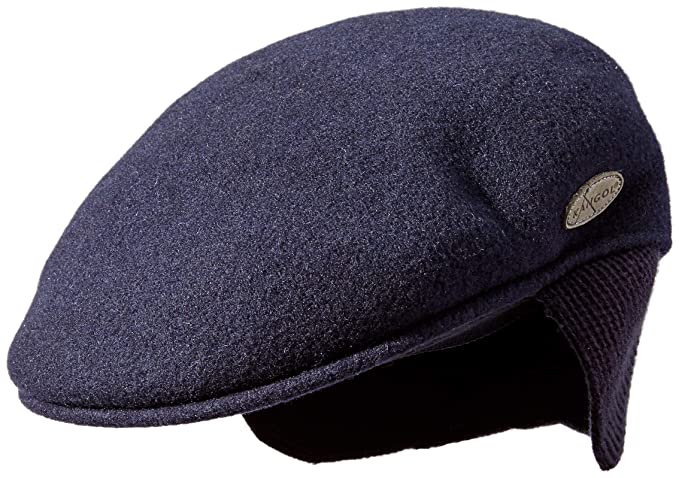 502d4037d4a43 Kangol Men s Wool 504 Earlap Flat Ivy Cap Hat
