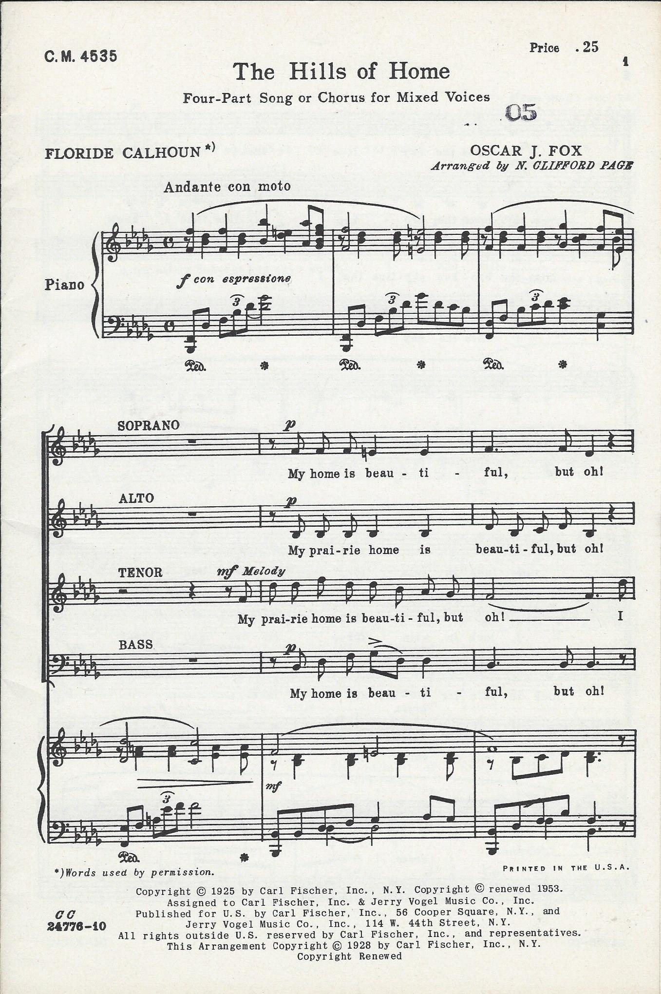 the hills of home. by oscar j. fox, composer of cowboy songs: fox, oscar  j.: amazon.com: books  amazon
