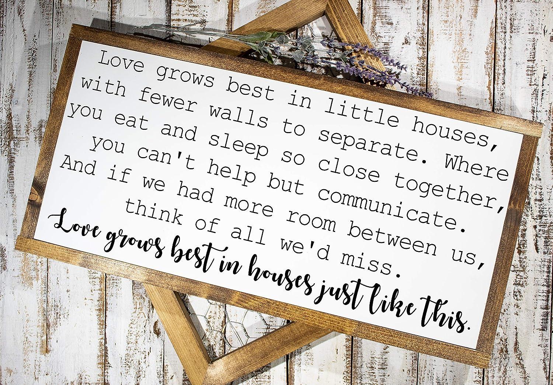 Fixer Upper Sign Love Grows Best Housewarming Gift Love Grows Best Sign Home Decor HD-68 Wood Sign Farmhouse Sign